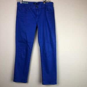 J Crew Toothpick Royal Blue Jeans 28 EUC